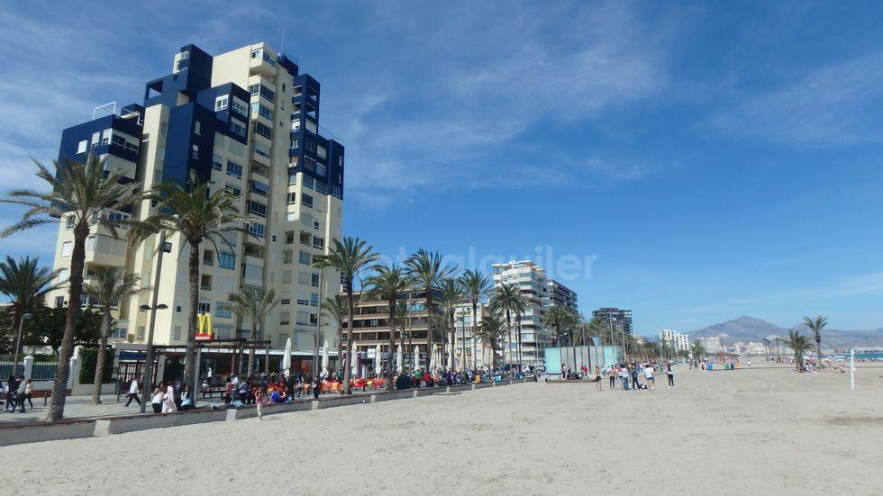 Alquiler apartamento en primera línea de playa en San Juan, Alicante