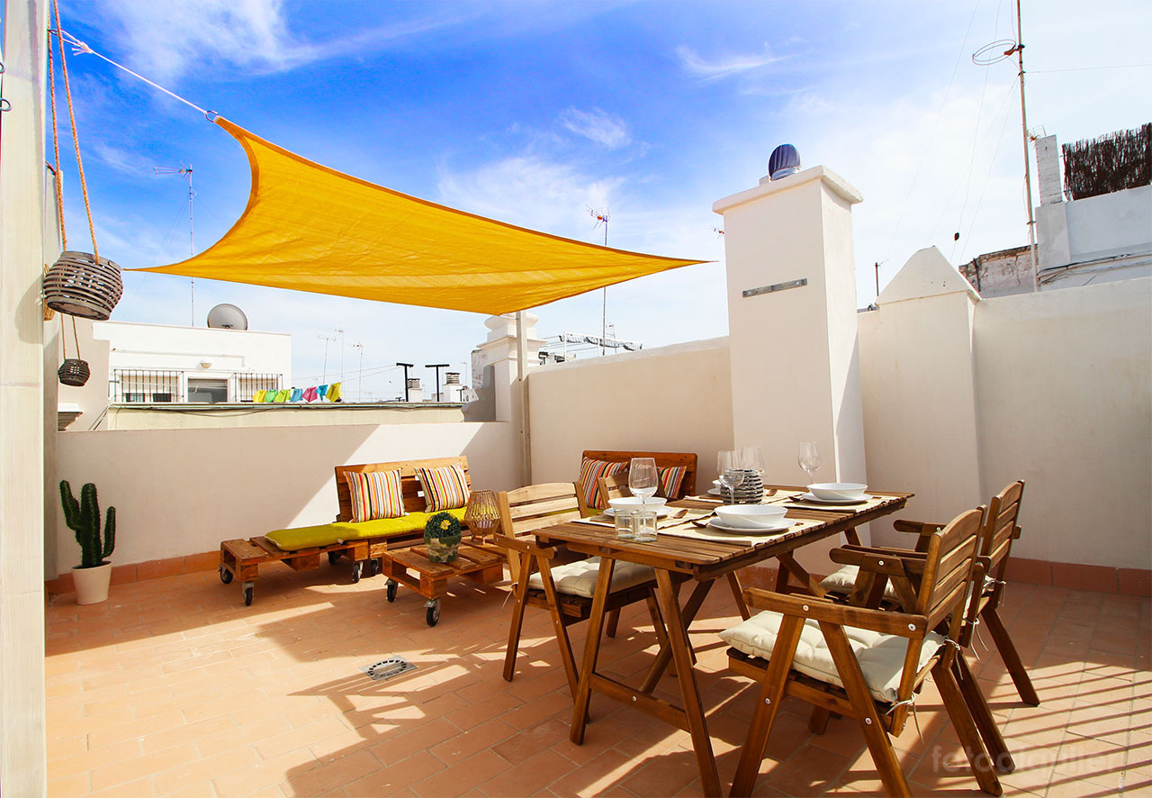 Ático en el centro de Cádiz, playa de la Caleta.