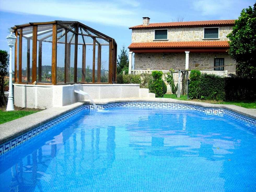 Casa Rural Os Carballos con jacuzzi cubierto en Barro, Pontevedra.