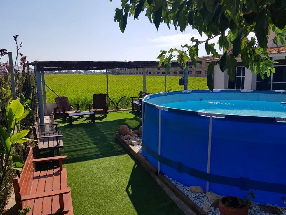 Caseta Benjamín, casa rural con piscina en el Delta del Ebro, Deltebre, Tarragona