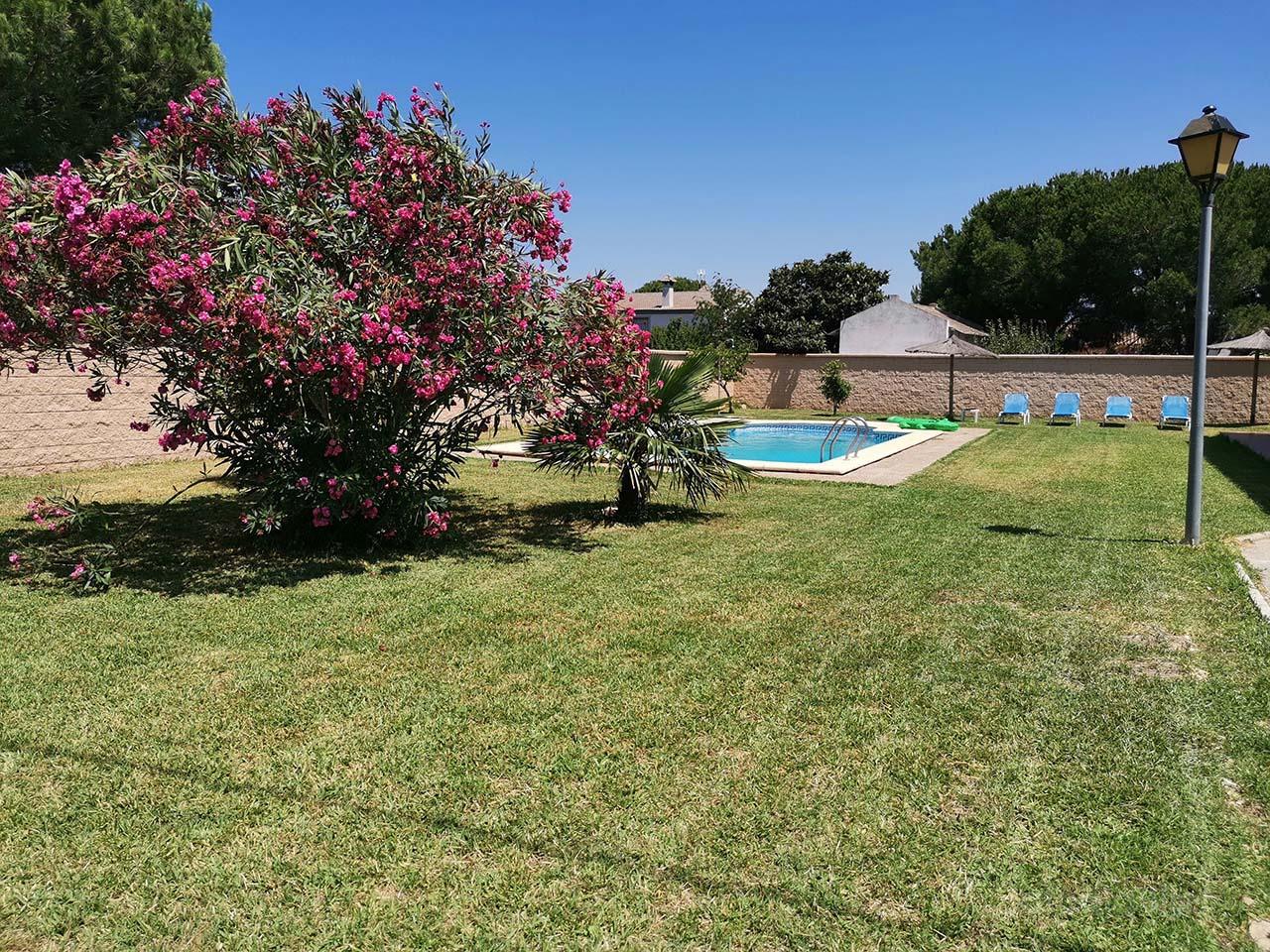 Alquiler de chalet con piscina privada en Chiclana de la Frontera