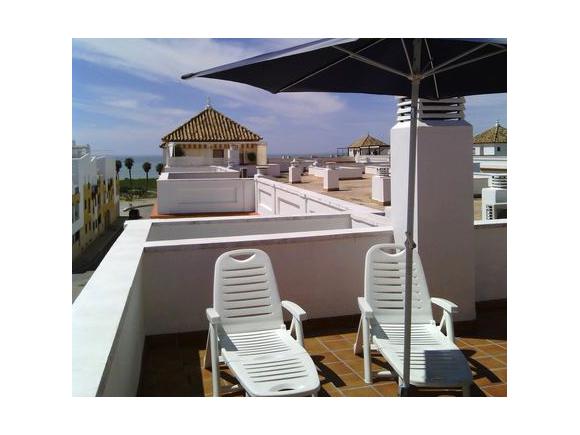 Ático en primera linea de playa urbanización Villa del Mar, Costa Ballena