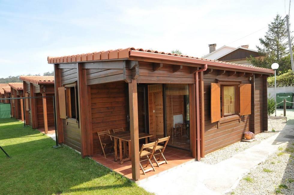 Sole e Mar, casas de madera, a 2 minutos de la playa de Nerga. Cangas de Morrazo, Rias Baixas.