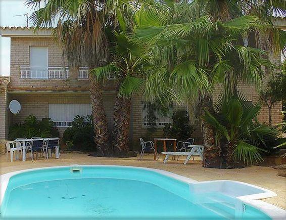 Villa Flamingo, alquiler de casa rural con piscina en el Delta del Ebro, Riumar, Tarragona